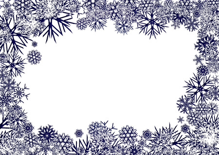 Blue Snowflakes Background, background for your greetings card, vector illustration, see more at my portfolio, you can type your text Stock Vector - 6016446