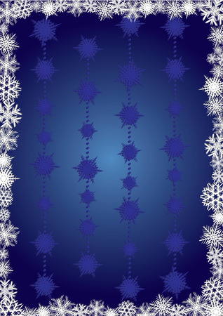 xm: Blue snowcapped background, background for your greetings card, vector illustration, see more at my portfolio, you can type your text