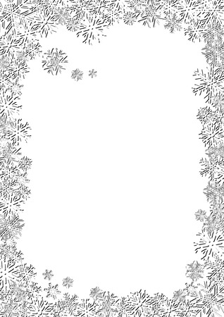 White New Year Background, Delicate background for your greetings card, vector illustration Stock Vector - 6028753