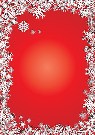Background new year red snowflakes Stock Vector - 6028747