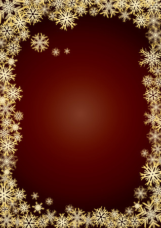 Background new year gold snowflakes, background for your greetings card, vector illustration, see more at my portfolio, you can type your text Stock Vector - 6028358
