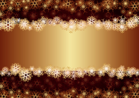 Gold Christmas Card, background for your greetings card, vector illustration, see more at my portfolio, you can type your text Vectores
