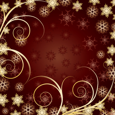 xm: Beautiful Gold Christmas background for your greetings card, vector