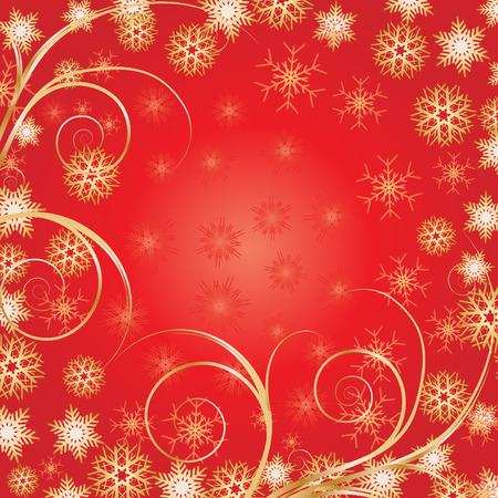 xm: Beautiful Red Christmas background for your greetings card, vector Illustration