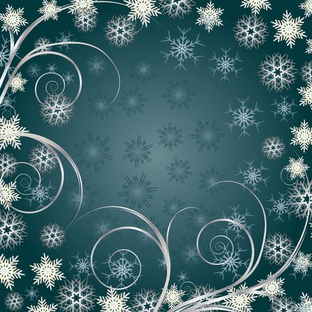Beautiful Christmas background for your greetings card, vector Vector