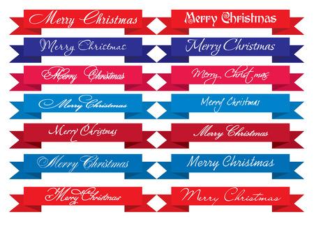 Merry Christmas Headlines, set of  Vector