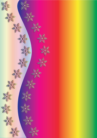 xm: Rainbow Winter Background, vector illustration,  see more at my portfolio, you can type your text Illustration