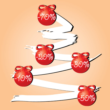 flack: Sale tree red, Use this sell tree for advertising, vector available  Illustration