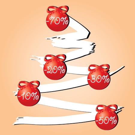 Vente arbre rouge, utilisez cet arbre de vendre pour la publicité, vectoriels disponible