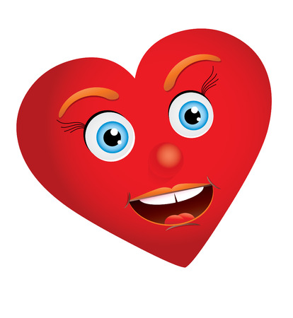 unusual valentine: Heart-woman looking at you with truly love, vector, see more at my portfolio