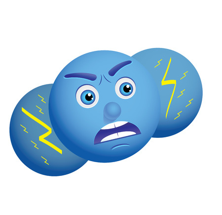 Use this angry cloud as weather icon or some else, vector, see more at my portfolio Stock Vector - 6081594
