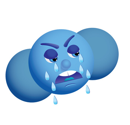 crying cloud, Use this crying cloud as weather icon, vector, see more at my portfolio Stock Vector - 6081565