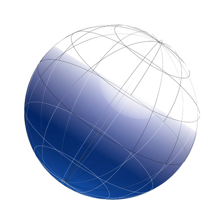 chassis: 3d globe framework on a white background, vector, see more at my portfolio