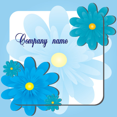 Blue Flower shop, Visit card or flayer for flower shop or else, vector, see more at my portfolio Stock Vector - 6081597