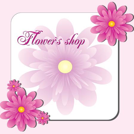 else: Pink Flower shop, Visit card or flayer for flower shop or else, vector, see more at my portfolio
