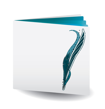 Blue Vector catalog with  feather on top for any usage, see more at my portfolio Vector