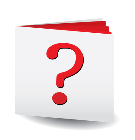 Question catalog for any usage, vector illustration Stock Vector - 6081610