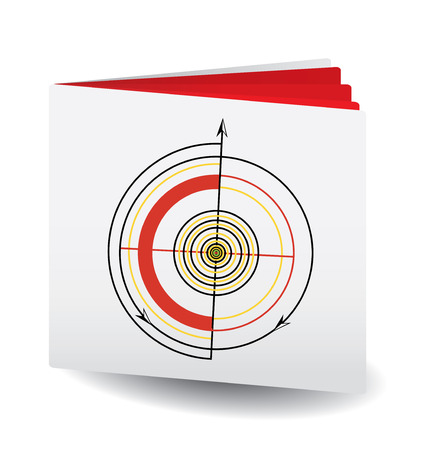 Target Book, 3d book with target on top, vector, see more at my portfolio Vector