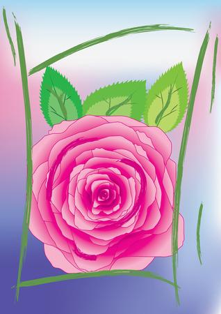 Tarjeta de saludos con Rosa, vector, ver más en mi cartera