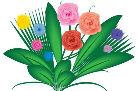 Ramo de flores, vectoriales, ver más a mi cartera