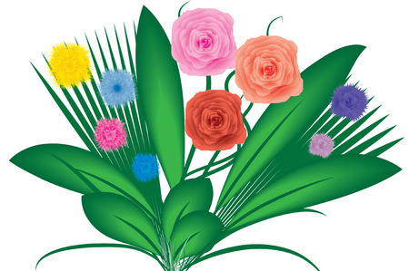 Bouquet of flowers, vector, see more at my portfolio