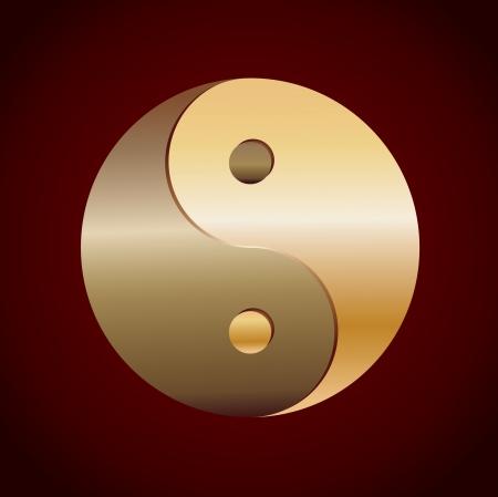 Gold YinYang Illustration