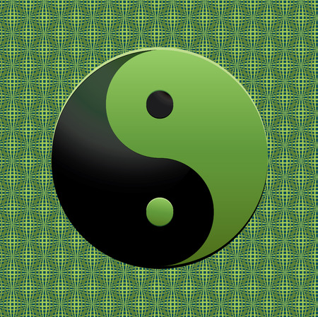 yan: Green Ying-Yang symbol, vector illustration, see more at my portfolio