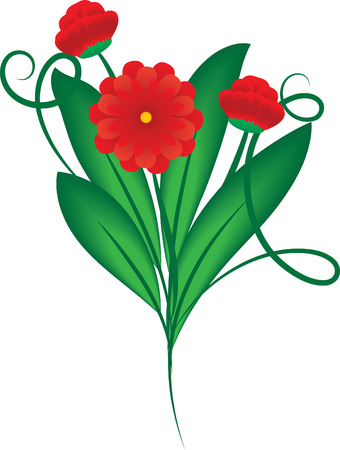 Bouquet of red flowers, vector, see more at my portfolio Stock Vector - 6129392
