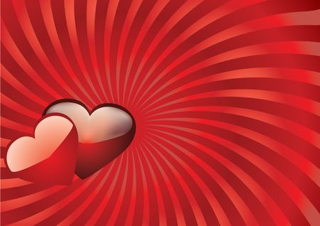 paramour: Valentine background 11, Valentine card with hearts on top, vector illustration