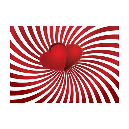 paramour: Valentine background 7, Valentine card with hearts on top, vector illustration  Stock Photo