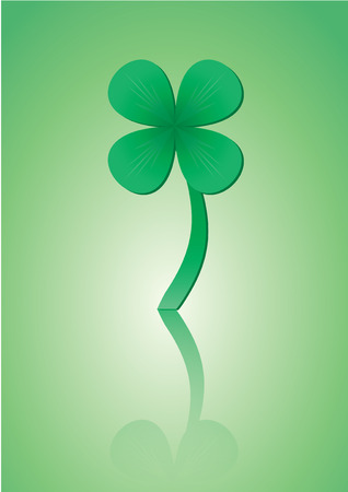 Green clover emblem, vector Vector