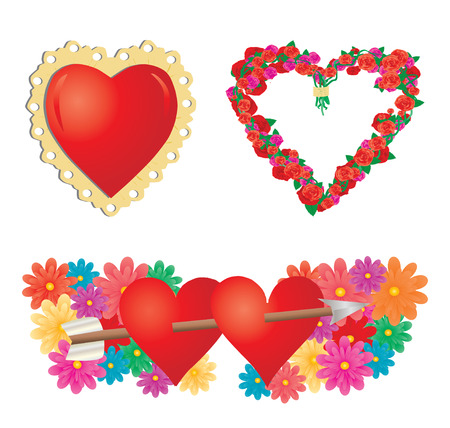 unusual valentine: Set of valentines hearts, part 2