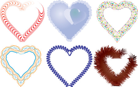 Set of valentine`s hearts, part 5, vector illustration Vector