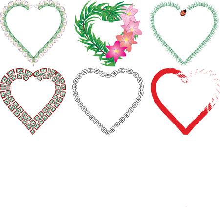 Set of valentine`s hearts, part 6, vector illustration Stock Vector - 6262756