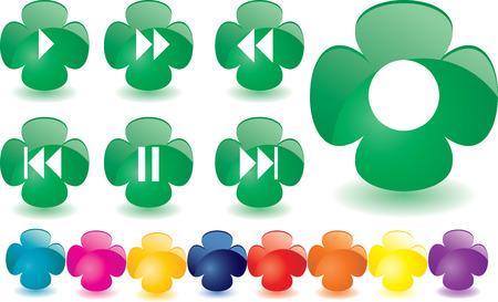 Green clover as music bar, vector illustration  Vector