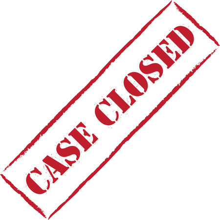 case: Red stamp Case closed