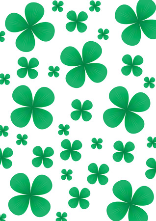 Green clover background for St.Patrick day, illustration Vector
