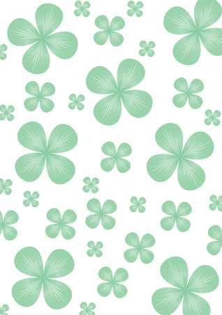 Clover backdrop for St.Patrick day, illustration Vector