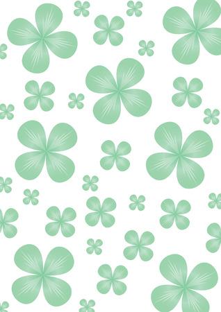Clover backdrop for St.Patrick day, illustration Vector