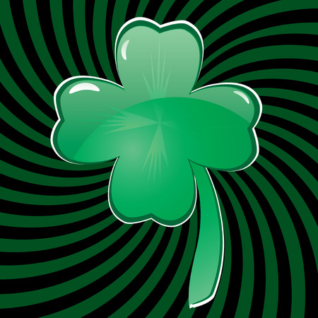 Glass clover for St. Patrick`s day, vector illustration  Vector