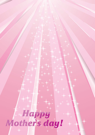 Vector background with strips and stars for Mother`s day Vector