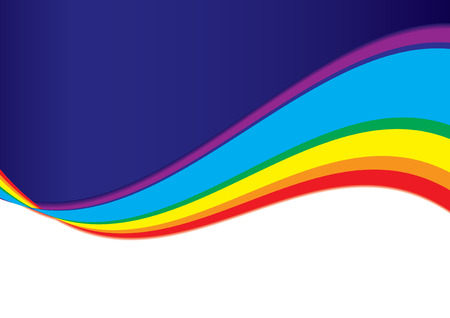 Abstract bacground with rainbow wave, vector illustration Vectores