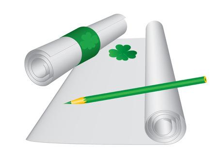 St. Patrick`s day letter, vector illustration Stock Vector - 6409919