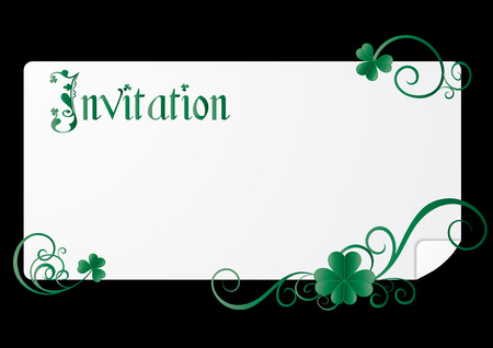 St. Patrick`s day invitation on black background, vector illustration Stock Vector - 6409920