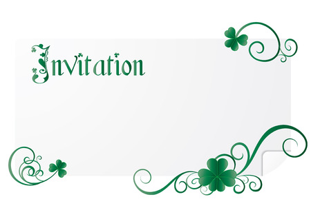 St. Patrick`s day invitation Stock Vector - 6412008
