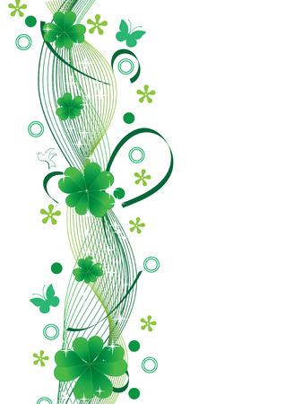 stpatrick: Clover background for St.Patrick day