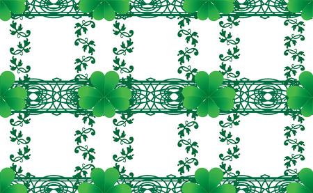 cloverleafes: Clover seamless background for St. Patrick`s day, vector illustration