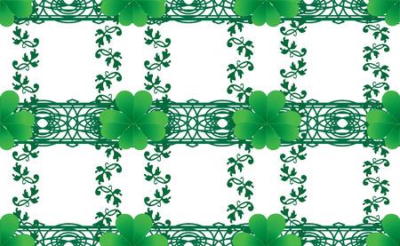 cloverleafes: Sfondo trasparente trifoglio di San Patrizio, illustrazione vettoriale