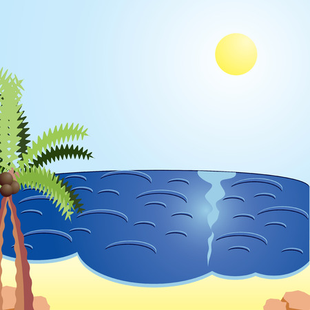 intocado: Vacation cards, Holiday day at the sea, vector illustration Ilustra��o