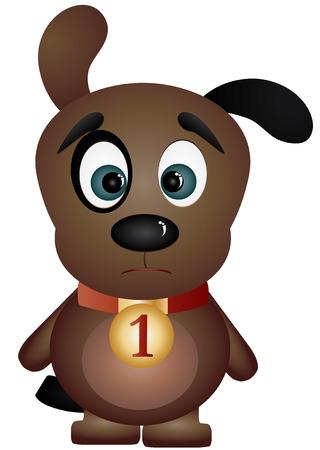 devanear: Sad black-eyed puppy, illustration
